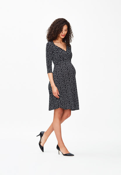 Sweetheart in Black/Ivory Confetti Dot (Maternity)