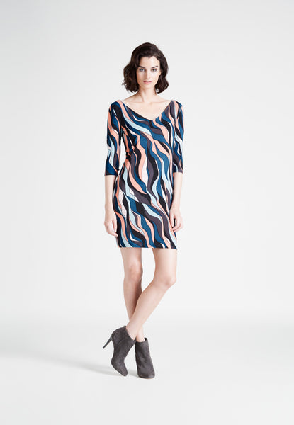Nouveau Sheath Dress in Riviera