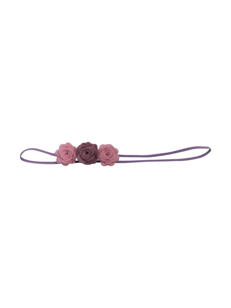 100% Wool Felt Triple Flower Headband