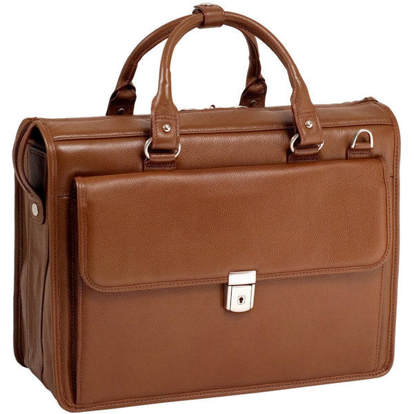 "McKleinUSA 15.6"" Leather Litigator Laptop Briefcase"