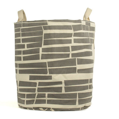 Subway Grey Storage Bin  Large