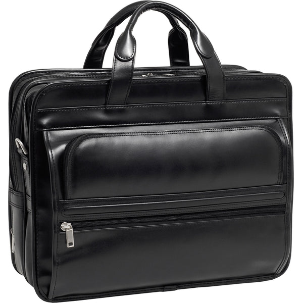 "McKleinUSA 15.6"" Leather Double Compartment Laptop Briefcase"