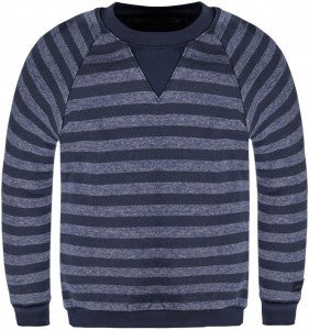 Navy Striped Sweatshirt