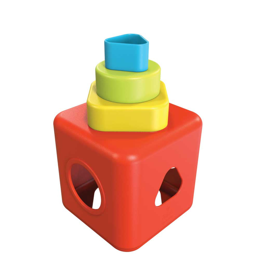 Bioplastic Shape Sorting and Stacking Cube