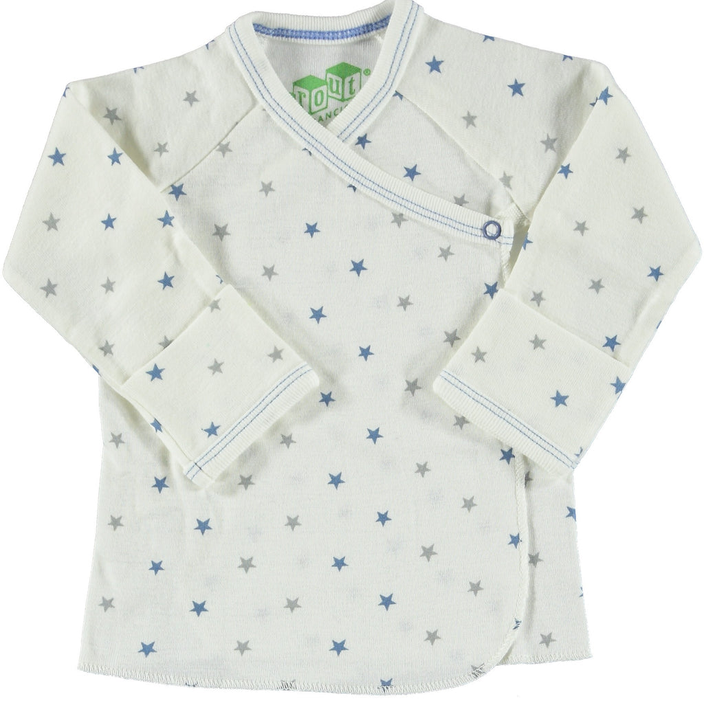 Blue Star Long Sleeve Kimono Style Shirt