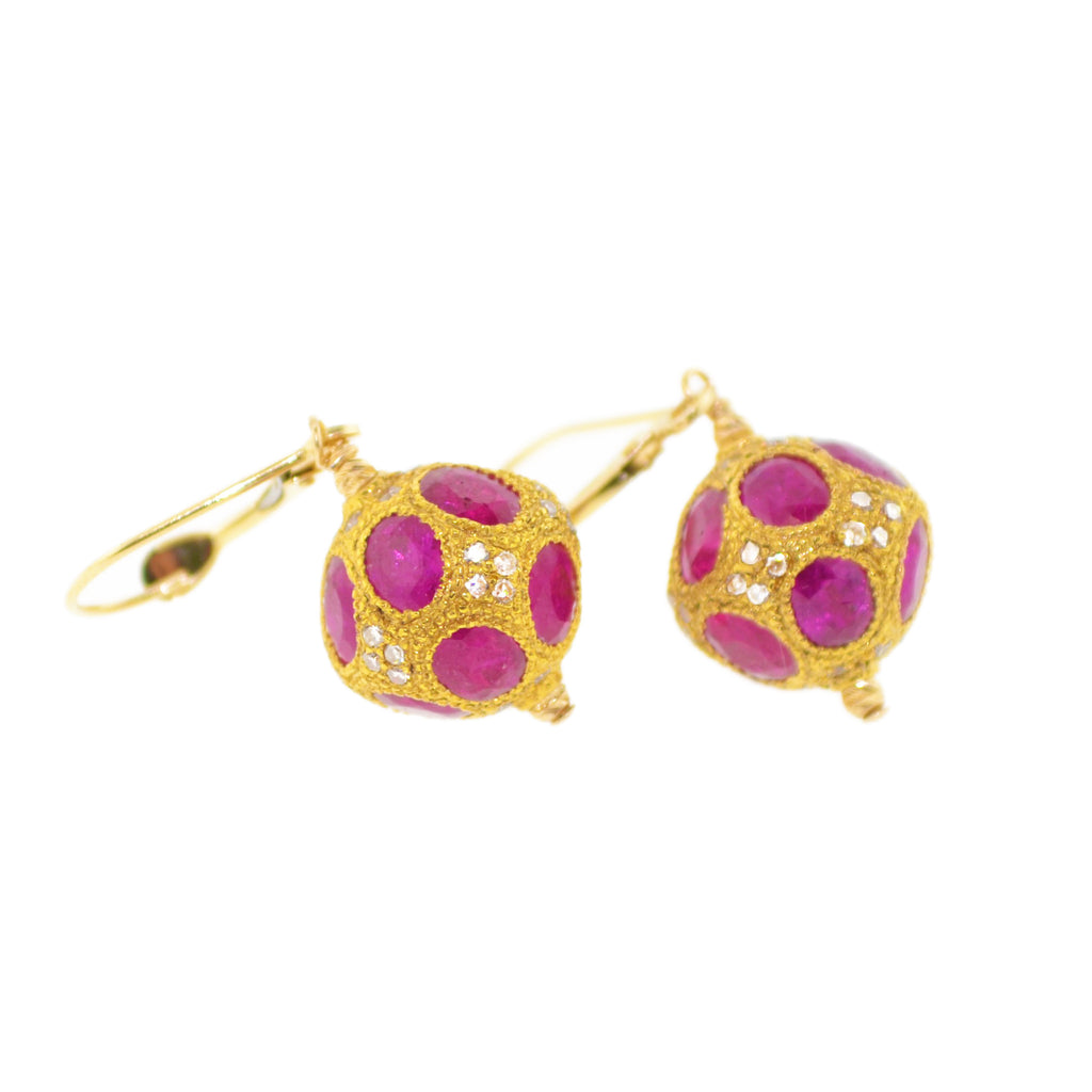 The Queen Estate Ruby Earrings