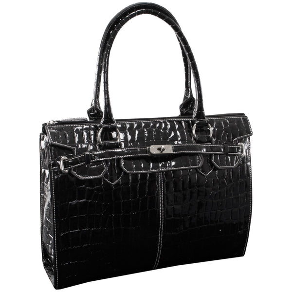 "McKleinUSA 14.1"" Faux Patent Croco Leather Ladies' Laptop Briefcase"