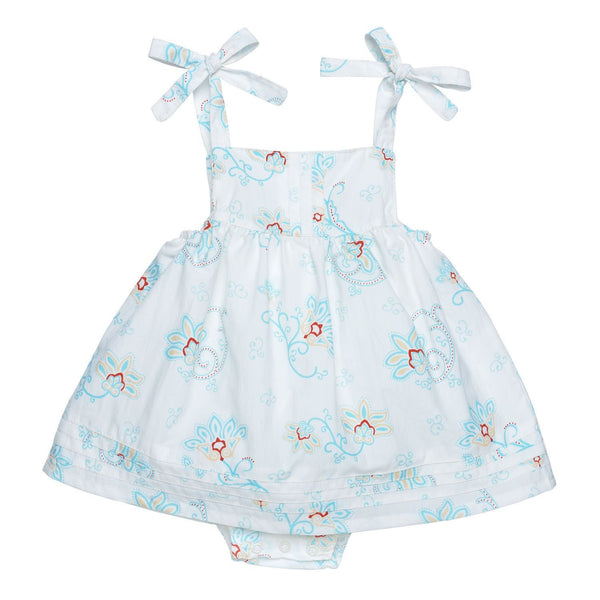 Bubble Dress with Pintucks - Princess Petal Poplin
