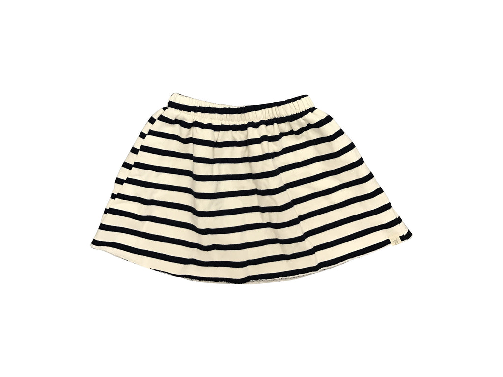 Fleece Skirt  Navy Stripe