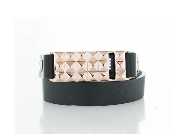 Stud Wrap Bracelet in Gold, Silver, or Rose Gold for the Fitbit Flex
