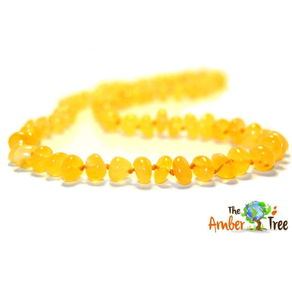 Polished Vanilla Baltic Amber Necklace