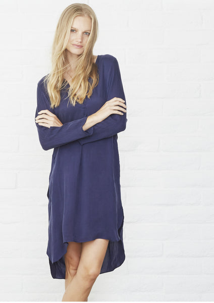 Navy Tunic Dress with Pockets