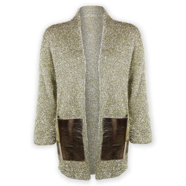 Markie Metallic Cardigan