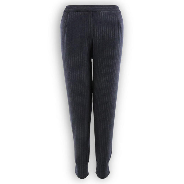 The Zoe Pant - Navy Pinstripe