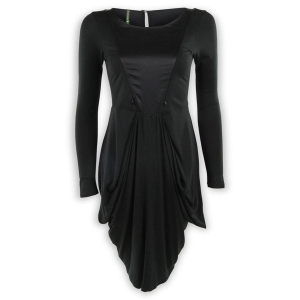 Drape Dress with Silk Detail