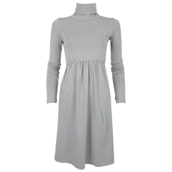 Gray Turtleneck Dress