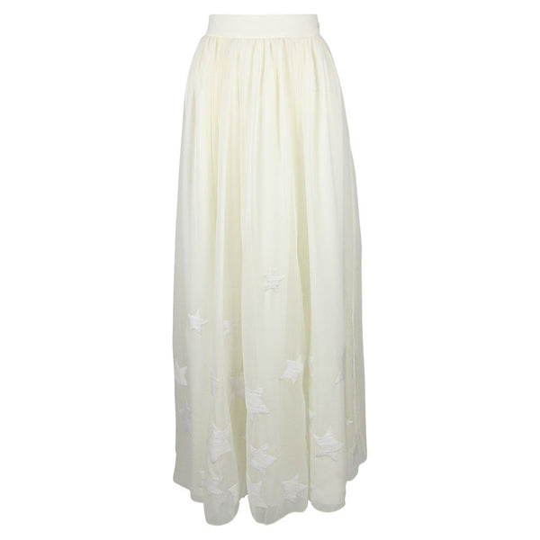 Star Embroidered Maxi Skirt