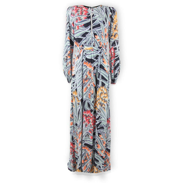 Keyhole Maxi Dress - Herbarium Charcoal