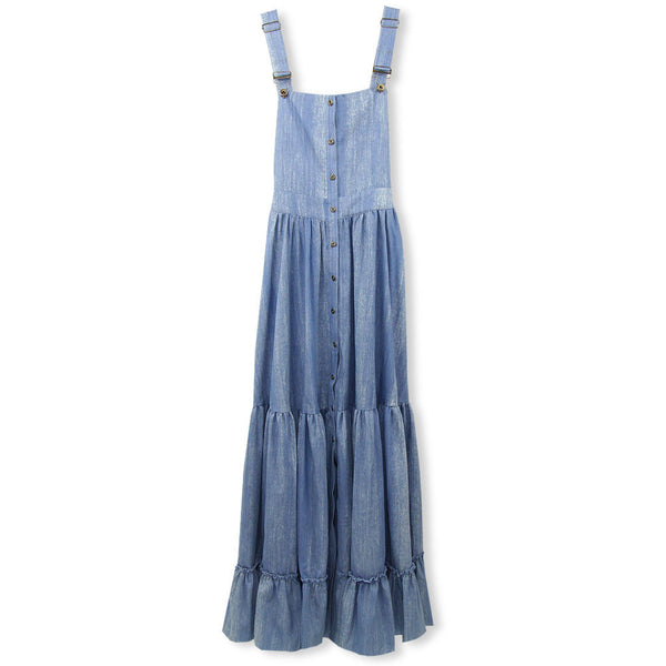 Mallory Maxi - Denim Overalls Dress