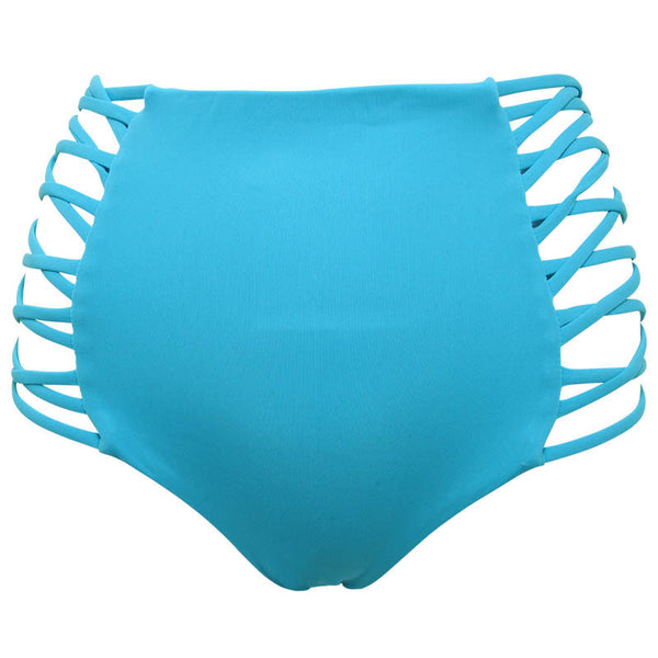 High Waist Lattice Bikini Bottom