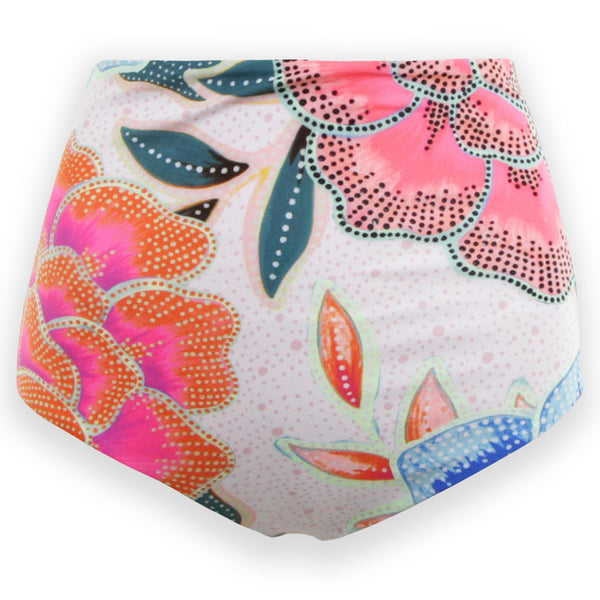 High Waisted Bikini Bottom - Arcadia Print