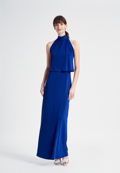 Skyler Maxi in Navy Crepe