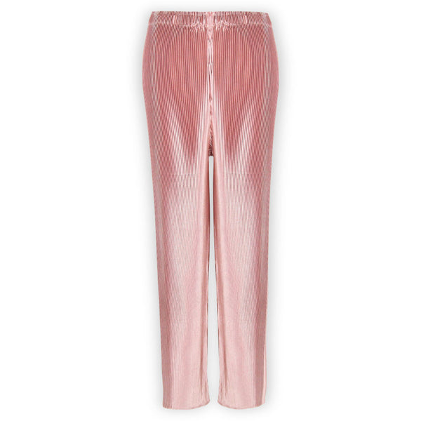Poppy Pink Pleated Pants