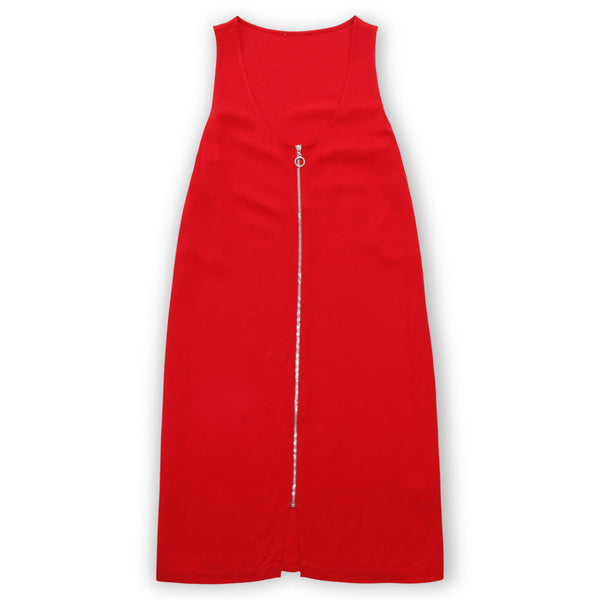 Riley Red Zip-Front Dress