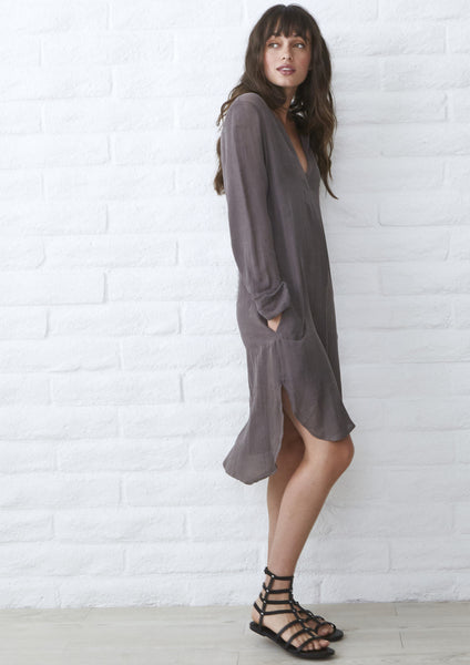 Tunic Dress with Pockets - Silk