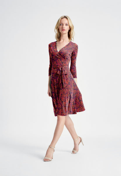 Perfect Wrap Dress in Desert Petal