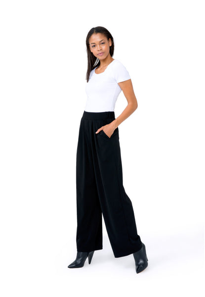 Kylie Long Pants in Black Crepe