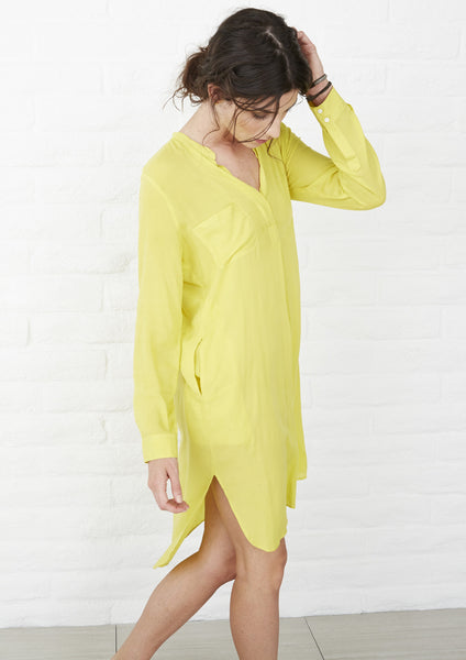 Yellow Tunic with Pockets