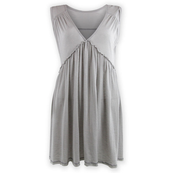 Vicki V-Neck Swing Dress - Grey