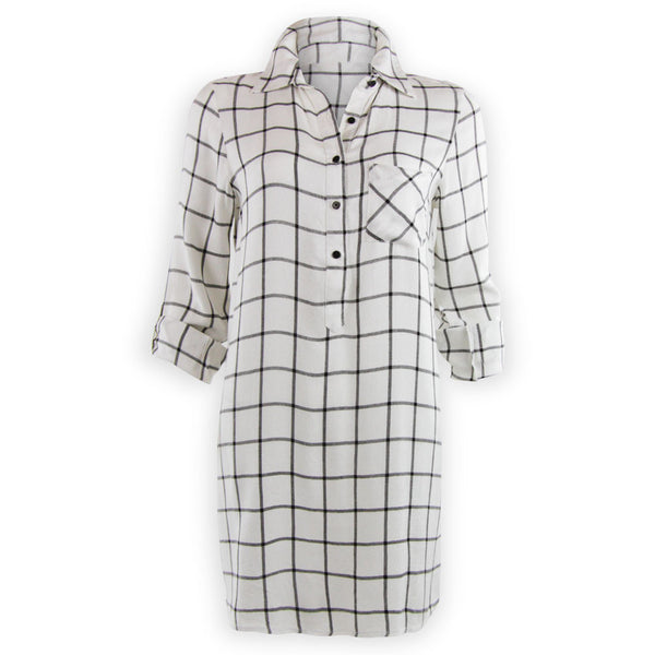 Wendy Window Pane Shirtdress
