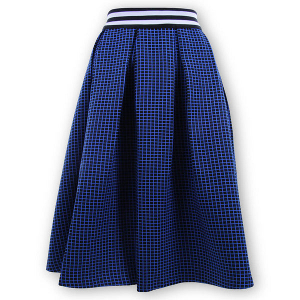 Wilson Window Pane Skirt - Blue
