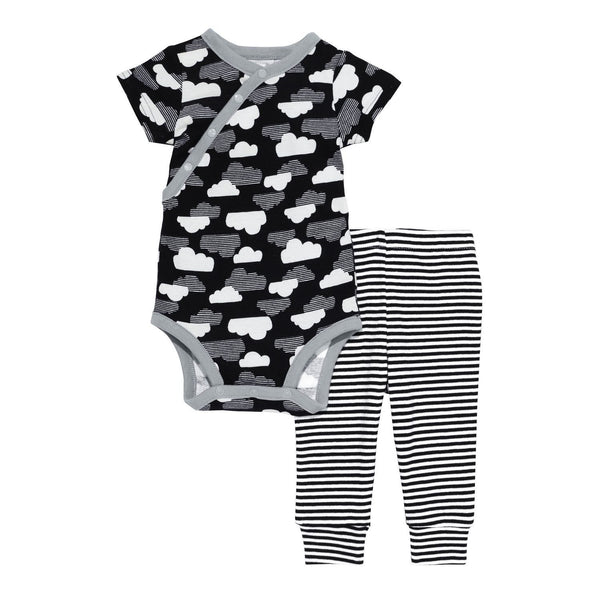 Star-Struck SS Bodysuit & Pant Set - Cloud