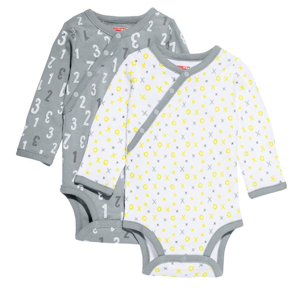 ABC-123 Long Sleeve Bodysuit Set - Grey
