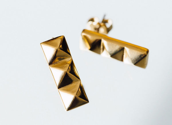 Triple Stud Earrings