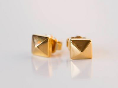 Single Stud Earrings in Gold, Rose Gold & Silver