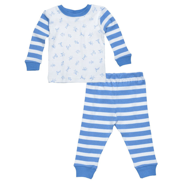Baby Long Johns - Little People Blue