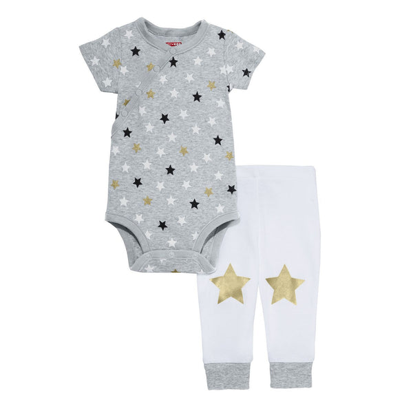 Star-Struck SS Bodysuit & Pant Set - Stars