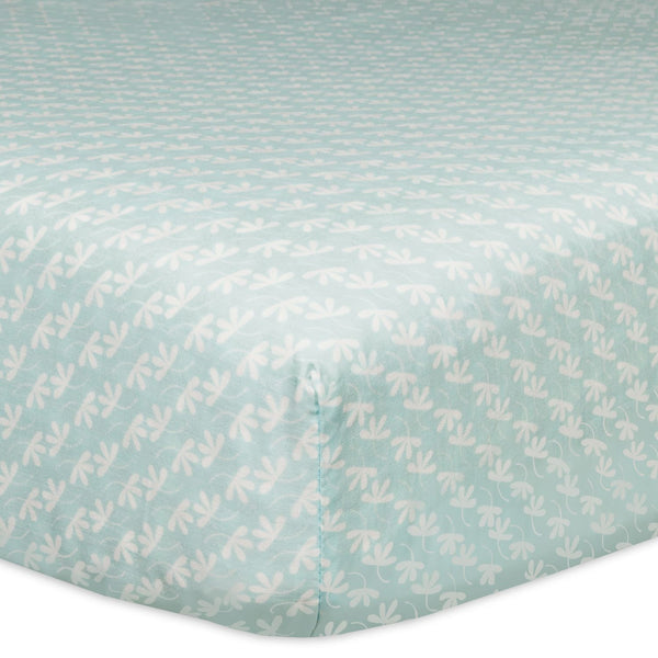 Fleeting Flora Fitted Crib Sheet