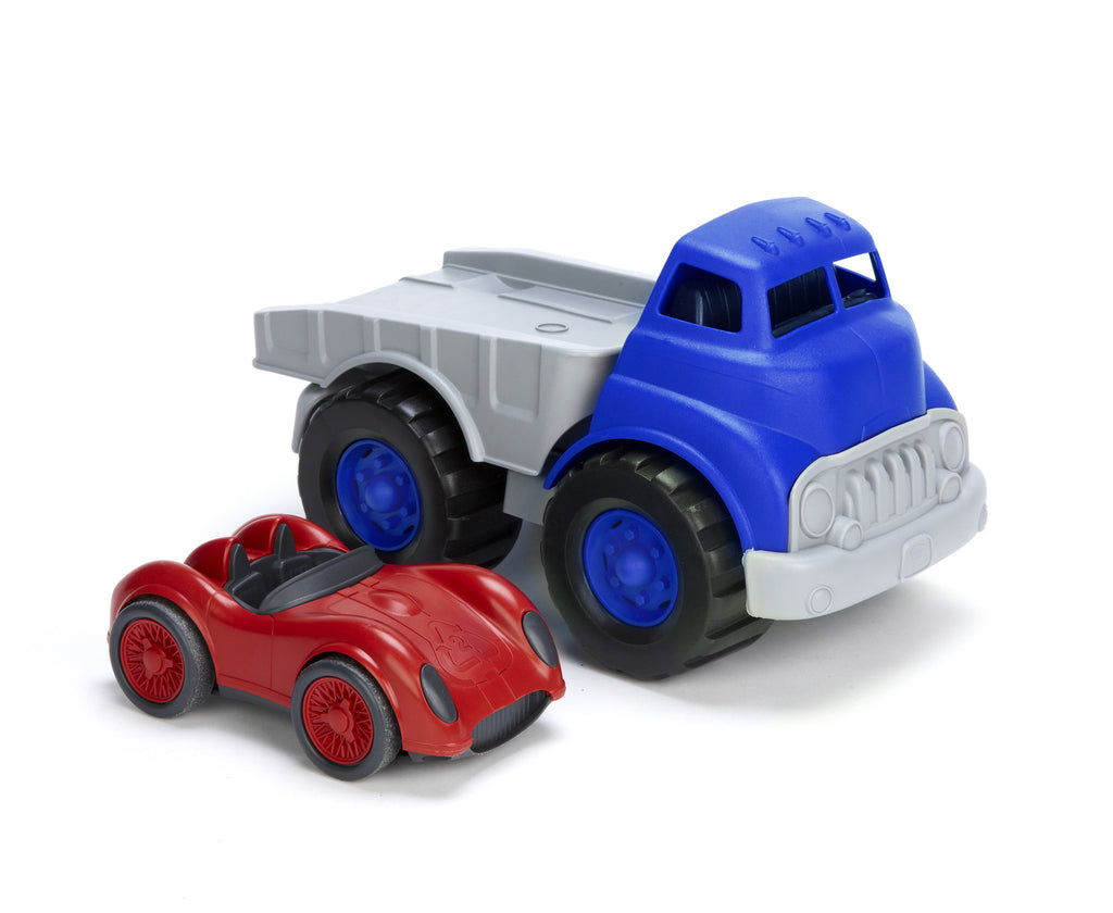 Flat Bed Truck with Race Car by Green Toys
