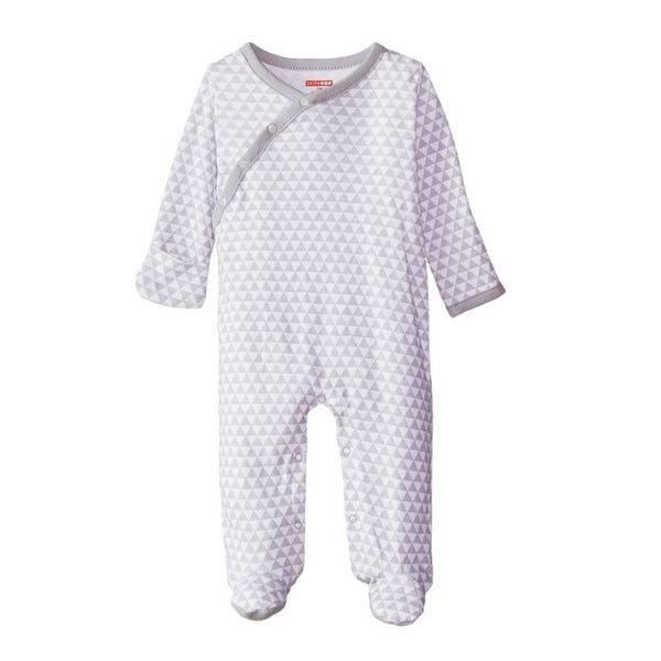 Skip Hop Baby Petite Triangles Side Snap Footie - Grey