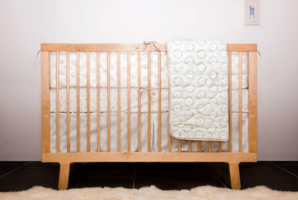 Blue Elephant Crib Skirt