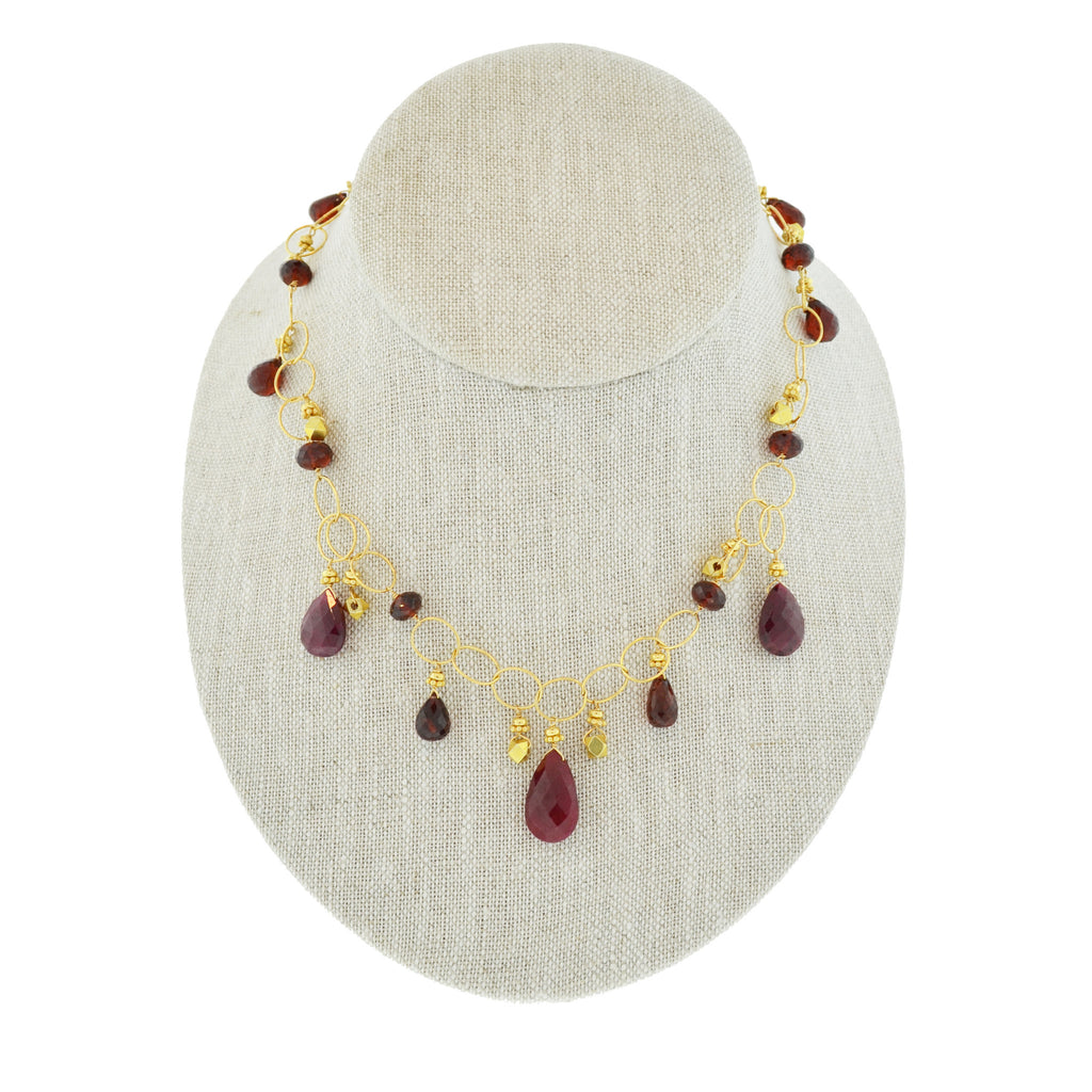 Garnet and Ruby Necklace