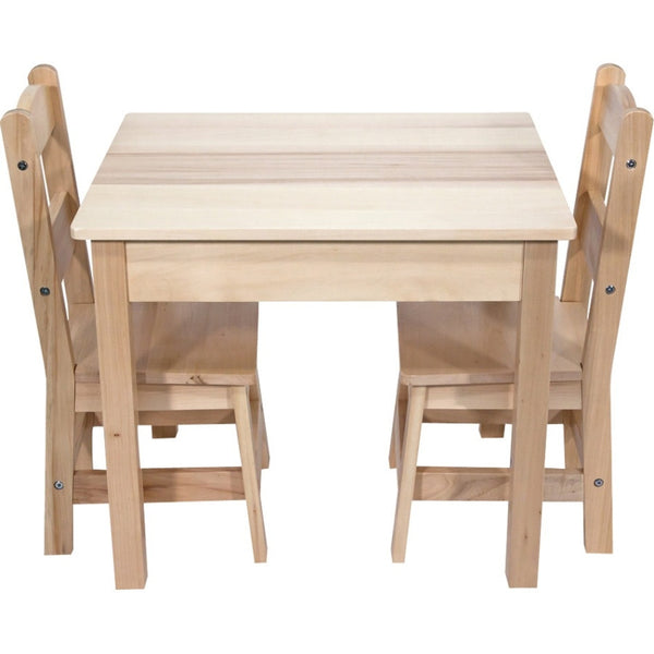 Melissa & Doug Wooden Table & Chairs 3-Piece Set