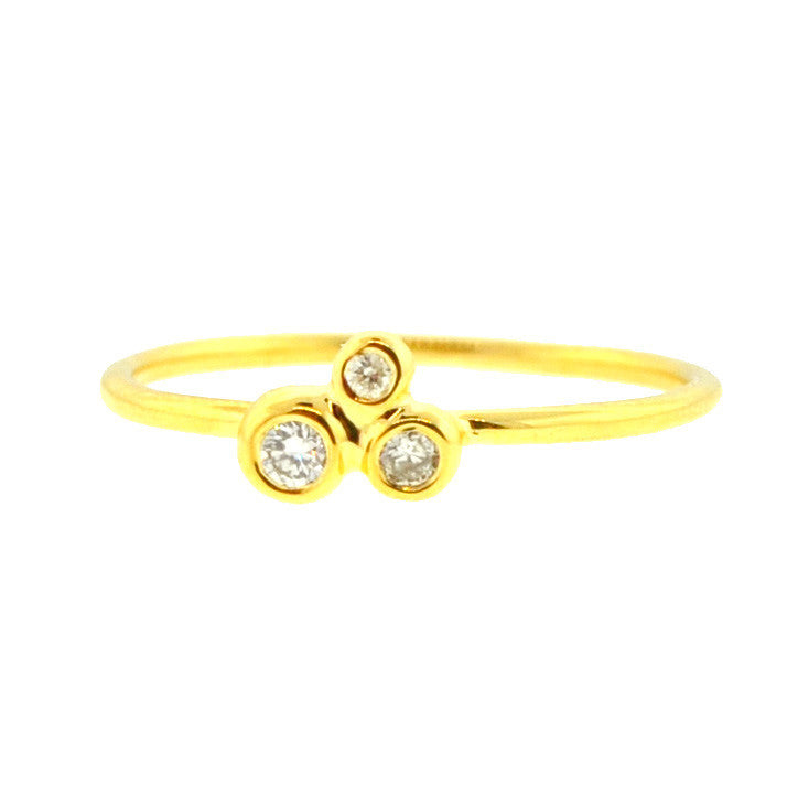 Triple Constellation Diamond Ring