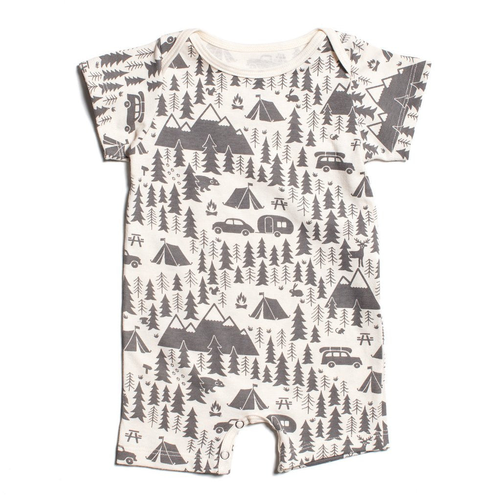 Campground Short Sleeved Romper