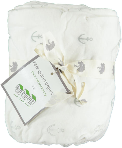 Anchor Organic Fitted Crib Sheet